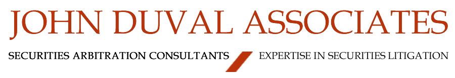 John Duval Associates, Securities Arbitration Consultants and Experts in Securities Litigation.